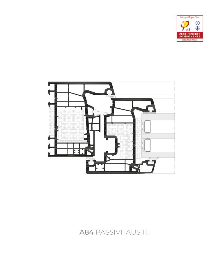 Sección del sistema A 84 Passivhaus HI / 1.0